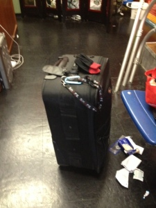 traveling with equipment, voices and visions, corporate video production