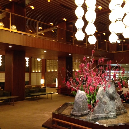 lobby of Hotel Okura