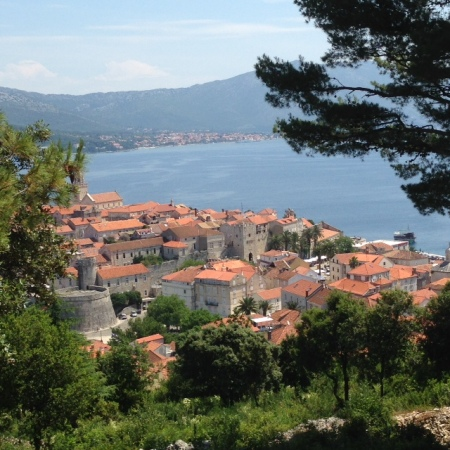 The town of Korcula on the island of Korcula